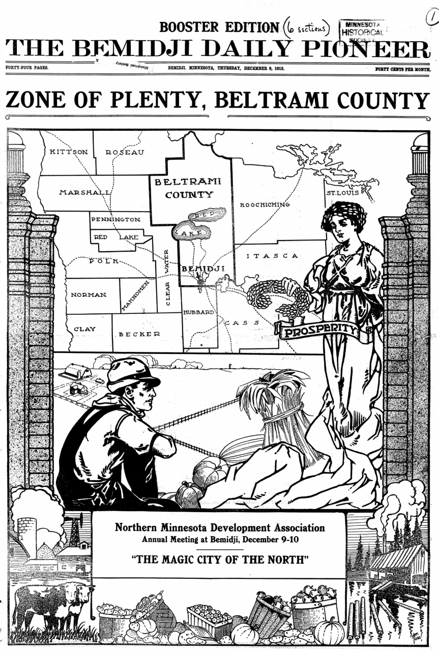 Boosting the Cutover District, 1915